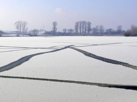 Bevroren grindplas