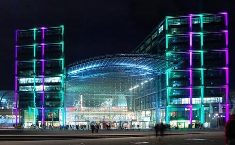 Berlijn - Festival of Lights - Hauptbahnhof