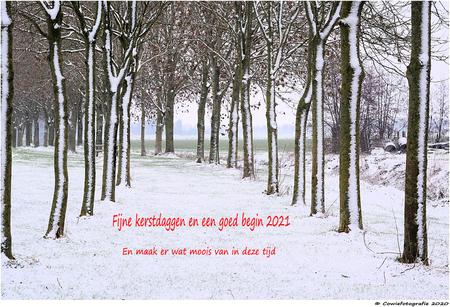 Fijne feestdagen - Alvast bedankt voor jullie reacties.  Gr. Johannes - foto door cowiefotografie op 16-12-2020 - deze foto bevat: natuur, herfst, sneeuw, winter, vakantie, landschap, bomen
