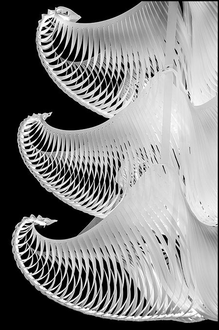 ddw-08 - De lichtobjecten van de Dutch Design Week 2012 riepen bij mij mij heel wat beelden op van de spannende onderwaterexpedities van Jacques Cousteau. Eve - foto door mphvanhoof_zoom op 30-12-2013 - deze foto bevat: licht, lamp, kunst, eindhoven, art, vormgeving, verlichting, mystiek, constructie, design, onderwaterwereld, onderwaterleven, lichtobject, ontwerpen, zwart wit, ontwerpers, dutch design week, industrieel ontwerp
