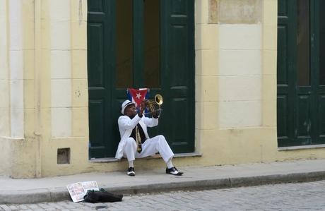 Muzikant in Havana (Cuba)