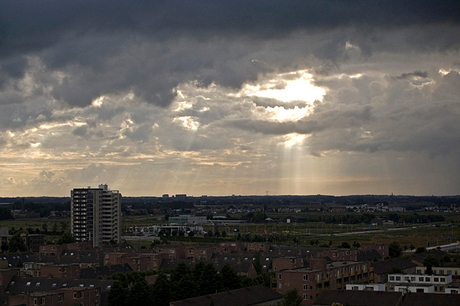 Clouds and rays of light