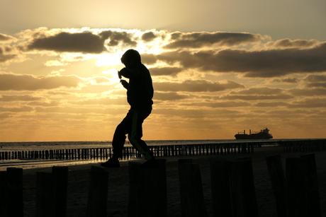 Silhouet in Zoutelande