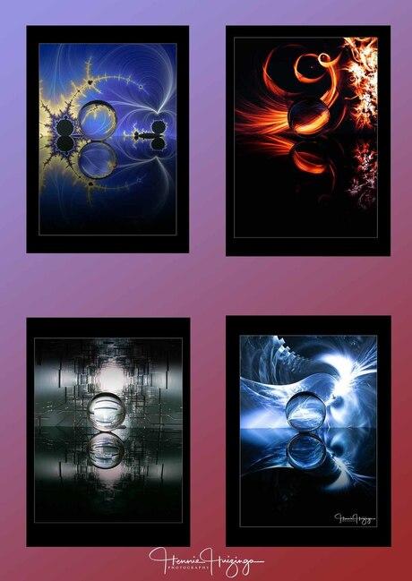 Collage van de kristalbol
