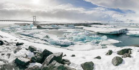Jökulsárlón gletsjermeer IJsland