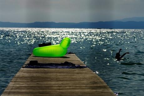 Groen opblaasbeest