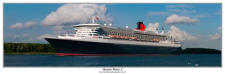 Panorama van de Queen Mary 2