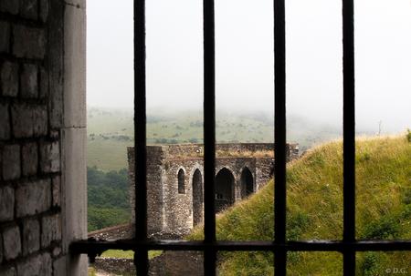 South England 1 - Juli 2013, mijn eerste vakantie in Engeland. Foto nummer 1 uit mijn serie 'South England'.  Een stapje terug in de tijd met een doorkijkje bij Dov - foto door daniel44 op 25-08-2013 - deze foto bevat: kasteel, landschap, engeland, castle, dover