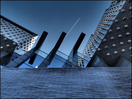 Lines @ Eemhuis - Voorgevel van het Eemhuis aan het Eemplein in Amersfoort - foto door Henk1746 op 02-01-2015 - deze foto bevat: abstract, architectuur, amersfoort