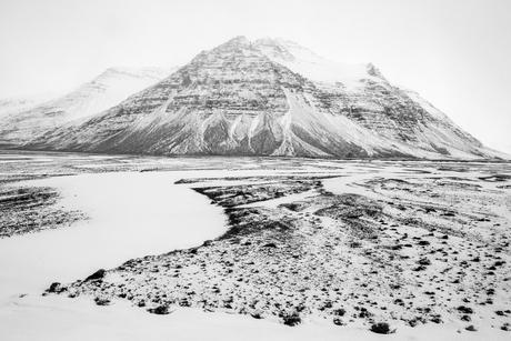 Zuid IJsland, Landschap na sneeuwbui