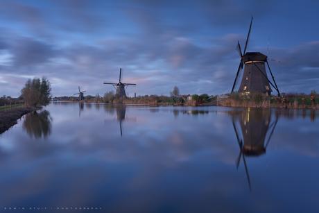 Blue hour at Kinderdijk