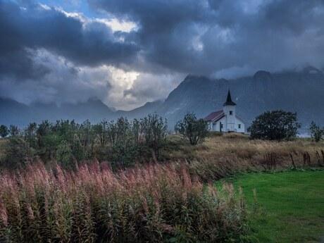 Kerkje in Noorwegen