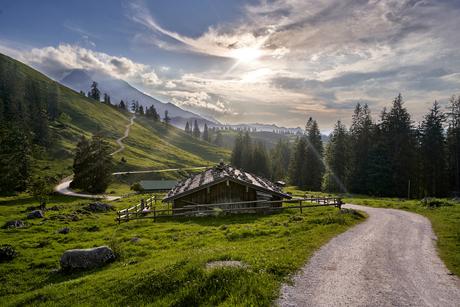 Prachtig Alpen landschap aan Königsbachalm