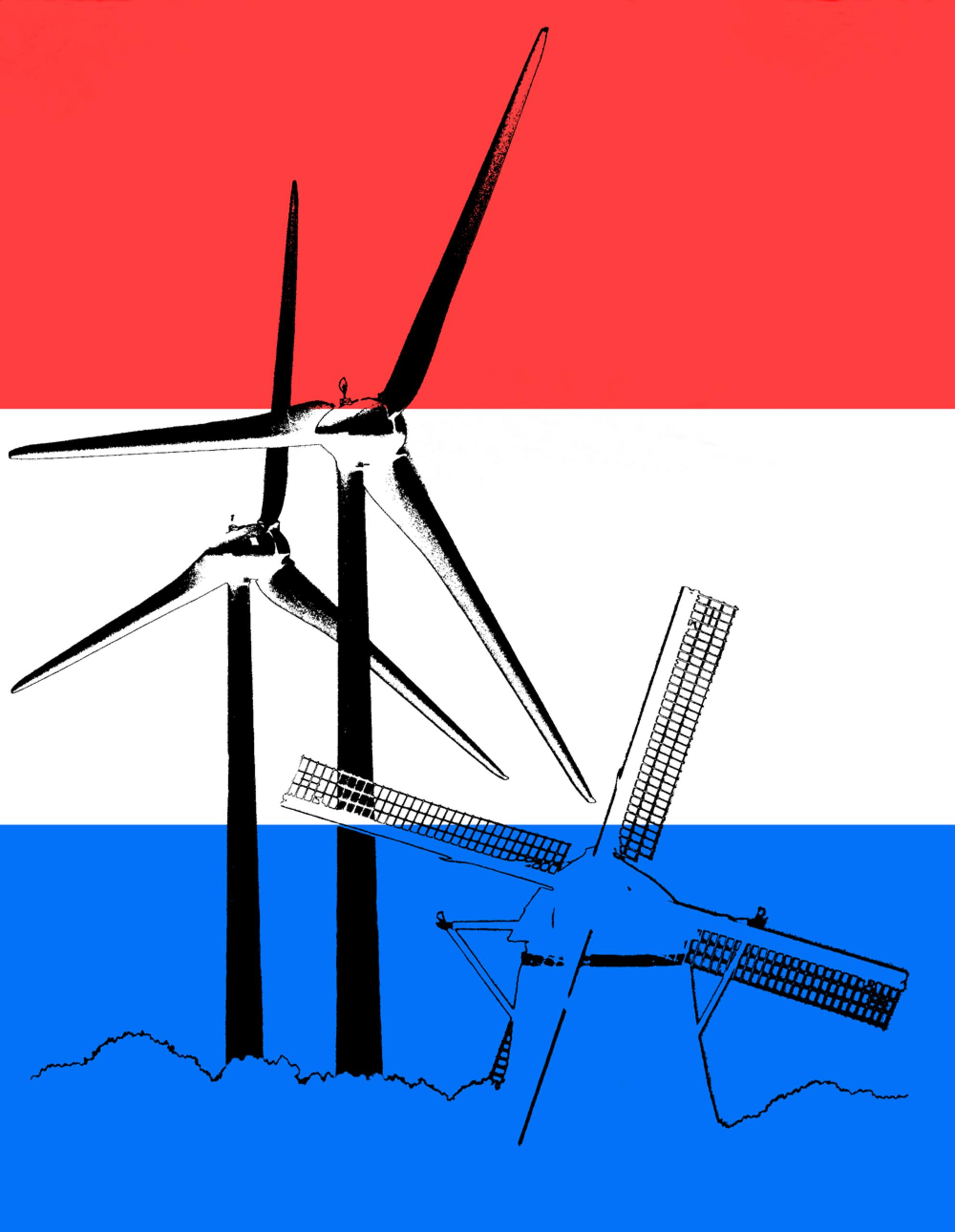 Holland Molenland - - - foto door JeanneW op 23-09-2018 - deze foto bevat: windmolens, molen, bewerking