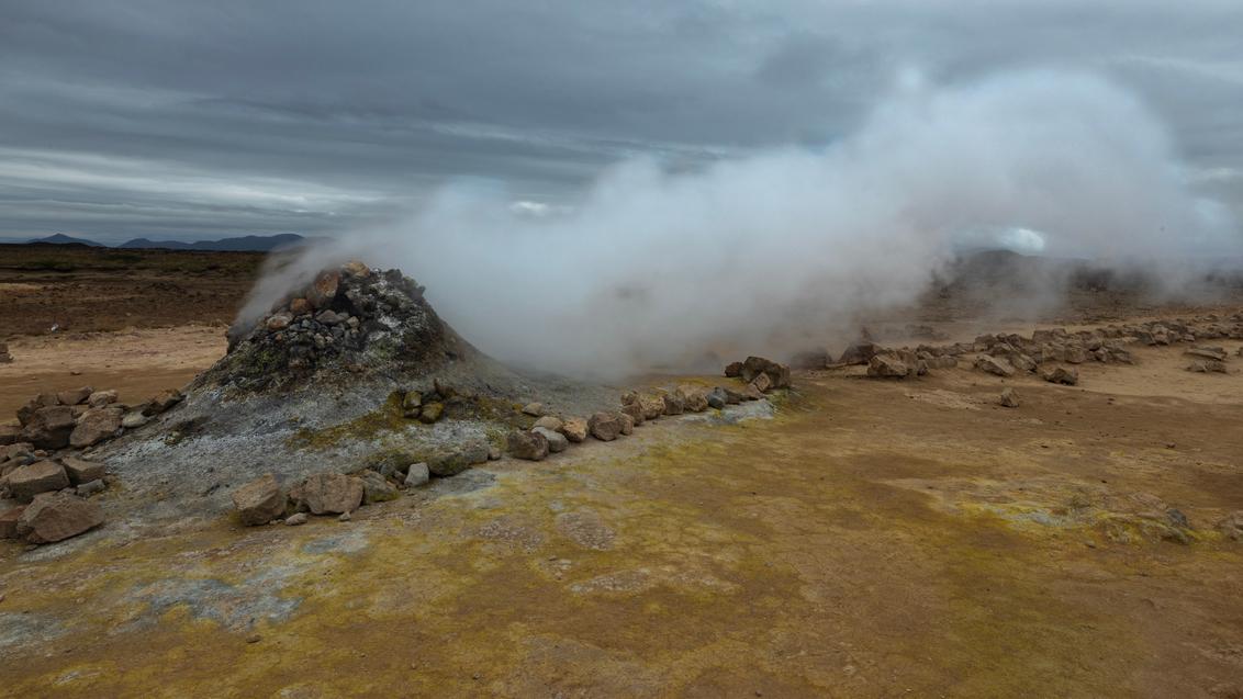 Hverir, IJsland - Hete bron Hverir, IJsland - foto door B-M-Brouwer op 27-11-2020