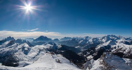 Panorama Dolomieten uitzicht
