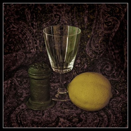 Stilleven met citroen