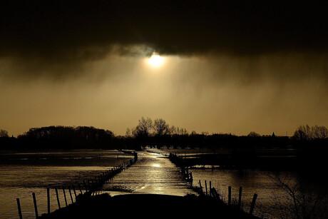 buiten de oevers getreden IJssel