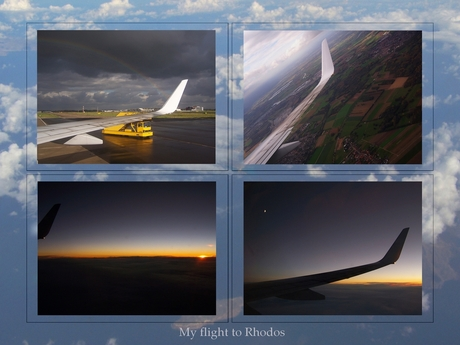 My flight to Rhodos