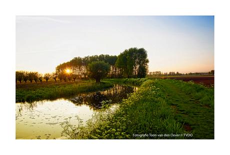 zonsondergang op het Ham Veghel