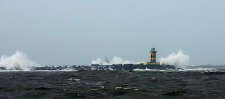 Storm op de pier!!