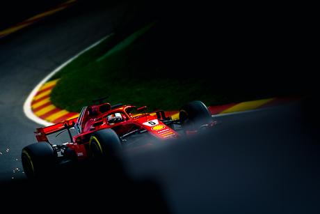Sebastian Vettel in Spa Francorchamps