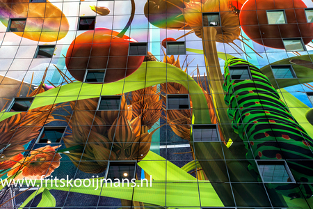 Markthal Rotterdam - 201506148003 Markthal Rotterdam - foto door fritskooijmans op 11-07-2015 - deze foto bevat: rotterdam, plafond, markthal rotterdam, 2015