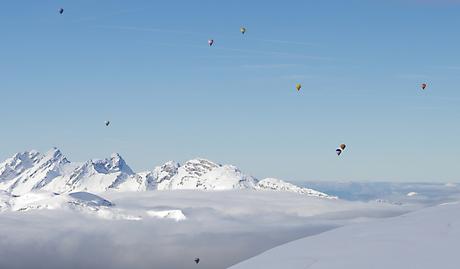Ballonnen in de bergen