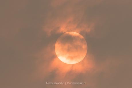 Oranje zon.
