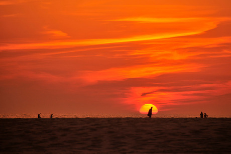 zonsondergang Midsland aan Zee