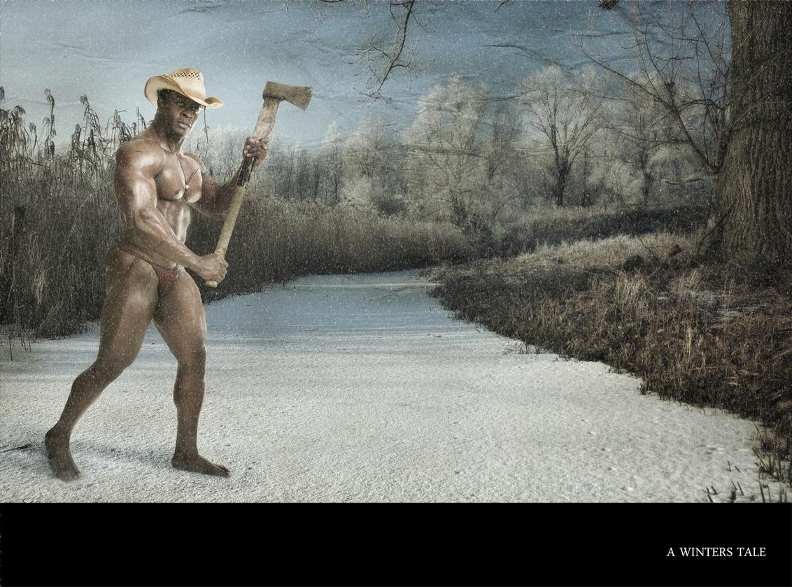 A winters tale - - - foto door marley op 20-11-2009 - deze foto bevat: man, sneeuw, winter, hout, kou, sprookje, hakken, sneeuwen, tale