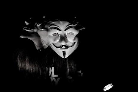 Dark scary selfportrait