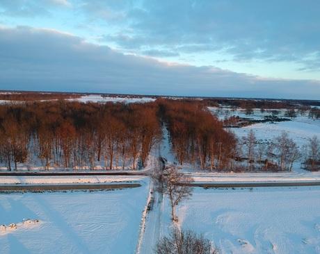 Winter vanuit de lucht