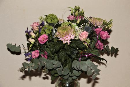 boeket - We willen iedereen bedanken voor de felicitaties die we hebben ontvangen, we hebben een fijne dag gehad.   We kregen van de Gemeente Enkhuizen een pr - foto door majvangooreg op 28-03-2018 - deze foto bevat: bloem