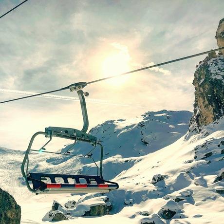 Skilift in Franse Alpen