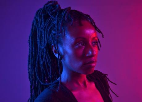 Portret met gekleurd licht