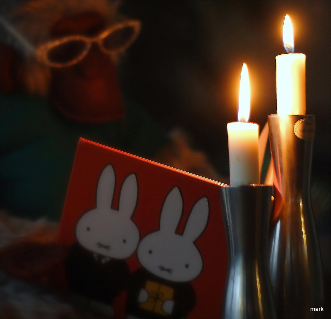 ff voorlezen - Het sneeuwt buiten dus ff binnen lekker warm een verhaal lezen. - foto door dumboy op 29-11-2010 - deze foto bevat: bril, aap, boek, kaars