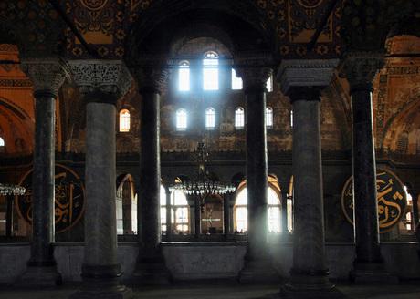 Pilaren van de Aya Sofia