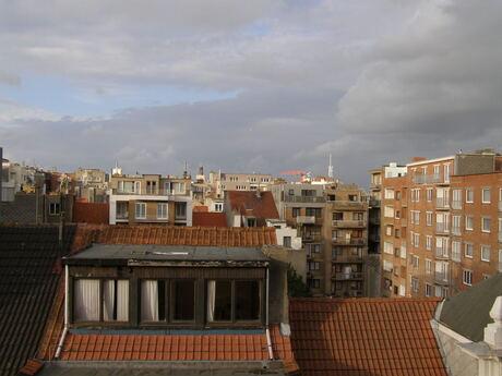 Uitzicht vanuit hotelkamer Oostende
