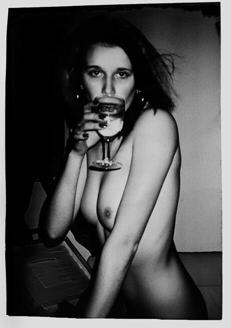 Het glas witte wijn