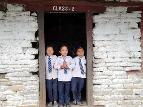 Schoolkinderen (Nepal)