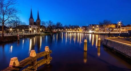 Blauwe uurtje Oostpoort Delft