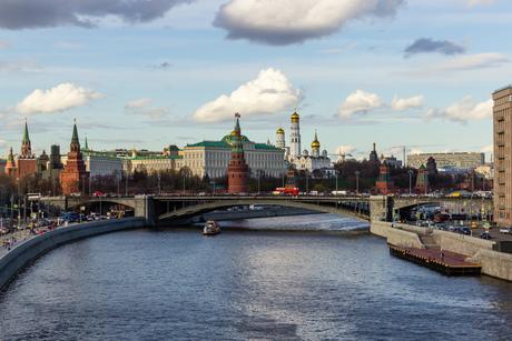 Uitzicht op het Kremlin