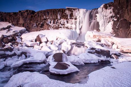 IJsland, Öxararfoss waterval