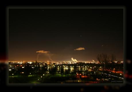 Nachtelijk uitzicht Maassluis (2)