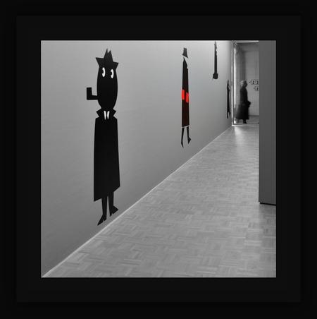 De donkere kant van . . . - ROTTERDAM - Kunsthal - . . . . van Dick Bruna. Een andere beeldtaal van de wereldberoemde Nijntje-creator te zien.  Slimme detectives verstopt in  - foto door 1103 op 02-04-2018 - deze foto bevat: fantasie, creatief, bewerkingsuitdaging, dick bruna - kunsthal - rotterdam -  nijntje-creator