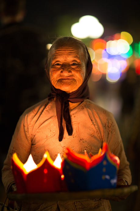 lantaarn verkoopster