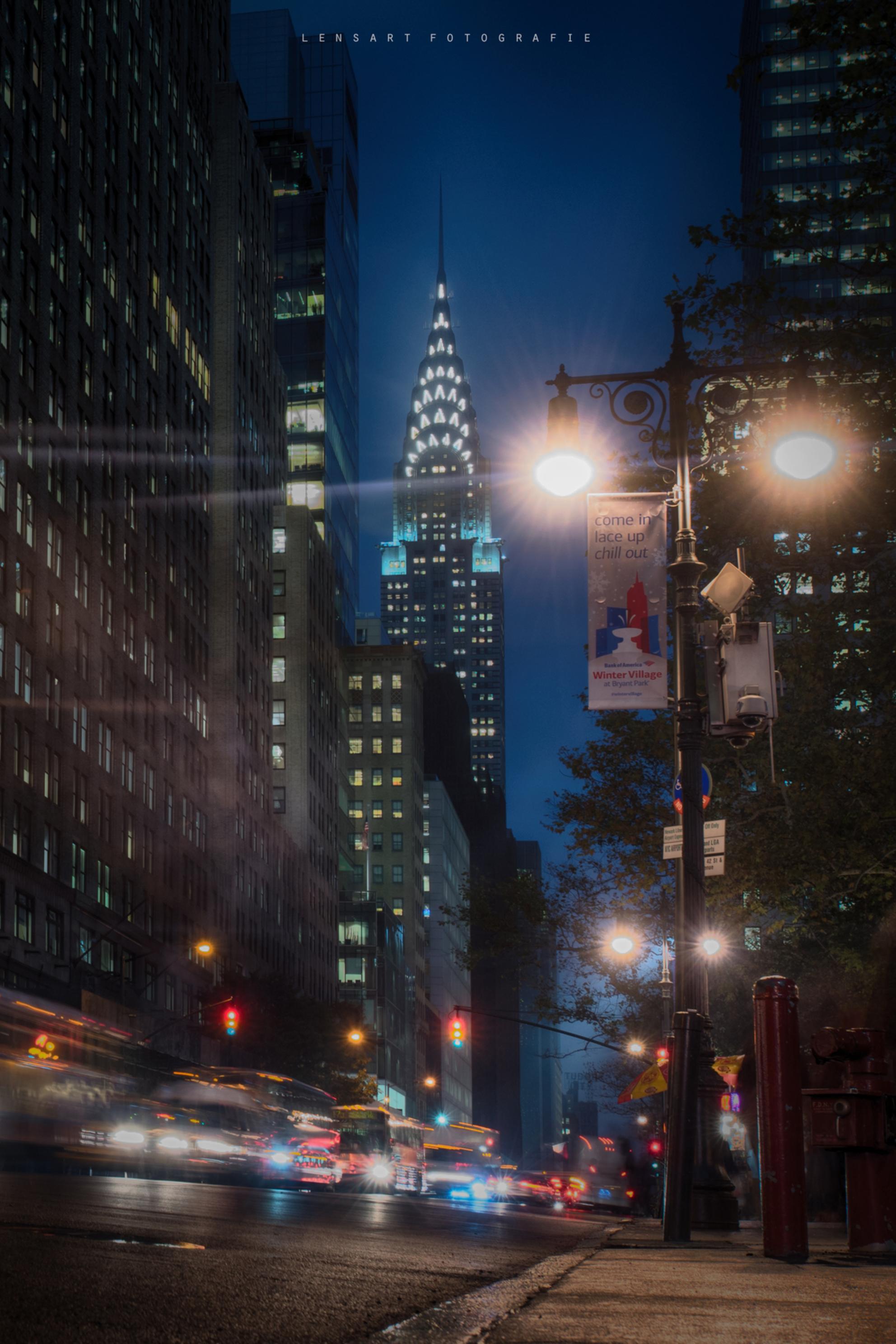 New York - Chrysler Building New York, 2015 - foto door autofocus op 06-01-2019 - deze foto bevat: architectuur, gebouw, stad, nacht, amerika, newyork