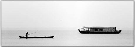 Woonboten nabij Cochin
