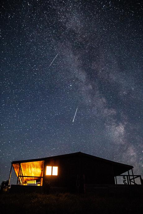 Oefening sterrenfoto melkweg en vallende sterren